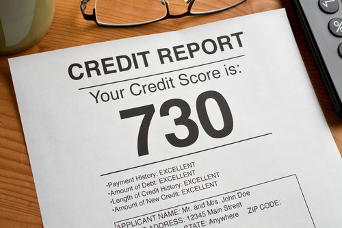 High Credit Score number on a report. Artwork created by the photographer.
