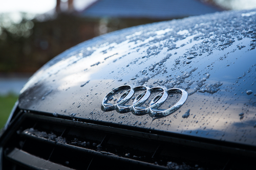 Audi Logo in the rain